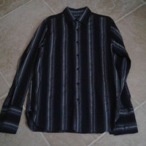 INC International Concepts Shirts - INC untucked French cuff striped shirt